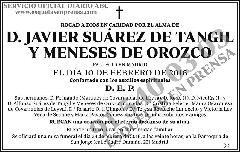Javier Suárez de Tangil y Meneses de Orozco